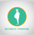 metabolic syndrome icon vector image