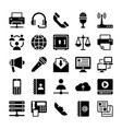Network and communication icons 5 vector image