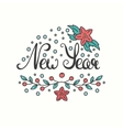 New Year Card Winter Holiday Typography vector image vector image