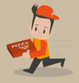 Pizza-boy vector image vector image