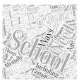 Preparing for School Word Cloud Concept vector image