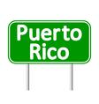 Puerto Rico road sign vector image vector image