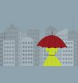 rainy-city vector image vector image