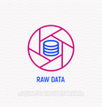 raw data thin line icon vector image vector image