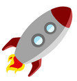 rocket taking off vector image vector image
