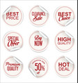 round white paper sale sticker collection 2 vector image vector image