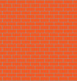 Seamless brick wall orange vector image vector image