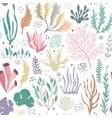 seamless pattern with underwater ocean vector image