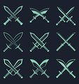 set heraldic swords and sabres for heraldry vector image