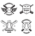 Set of baseball sport badge logo design template vector image vector image