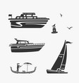 set of boat symbols vector image vector image