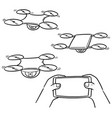 set of drone vector image vector image