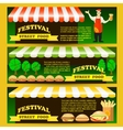 Set Street fast food festival flyers vector image