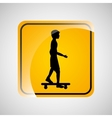 skater person sign sport extreme design vector image vector image
