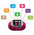 smart watch health measure vector image