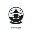 snow globe isolated icon simple element from vector image vector image