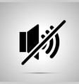 speaker mute simple black icon vector image vector image