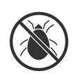 stop mites sign glyph icon vector image