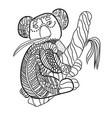 stylized koala isolated on white background vector image vector image