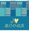 Summer card with designed text vector image vector image
