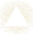 triangle frame polka dots golden star holiday vector image