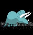 triceratops dinosaur cartoon vector image vector image