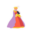 woman in red dress and mask carnival venice vector image