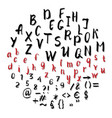 handwritten alphabet brush lettering vector image
