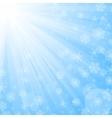 Sun beams and snowflakes vector image