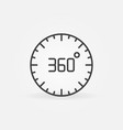 360 degree circle linear concept icon vector image vector image