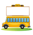 a school bus and board vector image vector image