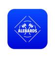 alebard icon blue vector image vector image
