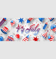 american background for usa independence day vector image