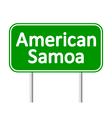 American Samoa road sign vector image vector image