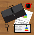 analysis and comparison of economic data vector image vector image