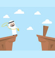 arab businessman using lasso rope for cross the vector image vector image