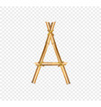 bamboo letter a isolated on transparent background vector image vector image