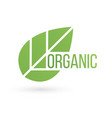 bio product eco organic leaf emblem sticker or vector image vector image
