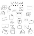 black and white set bags vector image