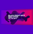 black friday big sales bright abstract vector image