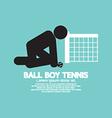 Black Symbol Ball Boy Tennis vector image vector image