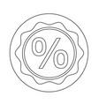 bonus sale icon vector image