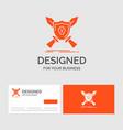 business logo template for badge emblem game vector image