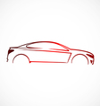 car abstract automotive concept logo vector image vector image