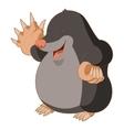 Cartoon smiling Mole vector image