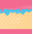 close up ice cream cone pattern texture for vector image vector image