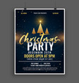 dark christmas party celebration invitation vector image