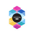 design logo template colorful abctract badge for vector image