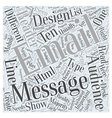 Designing for Different Types of Email Audiences vector image vector image