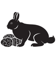 easter bunny hatches vector image